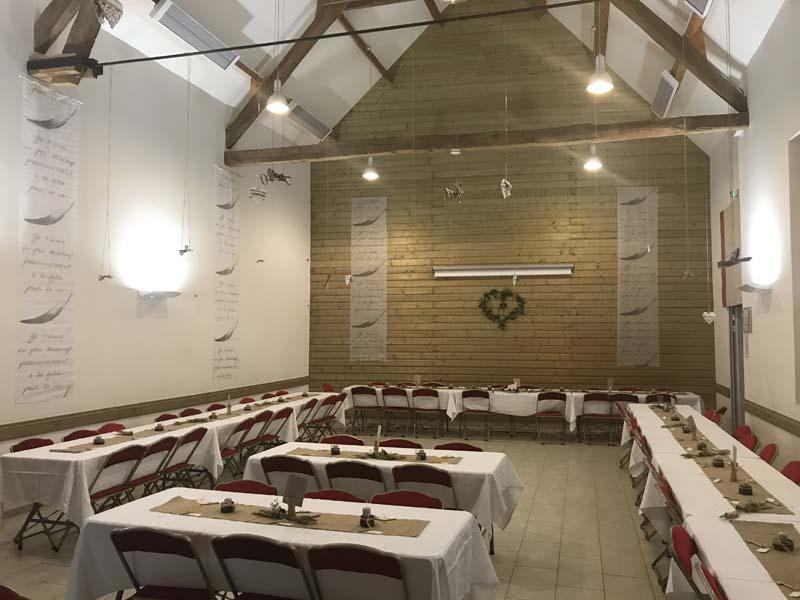 Salle de réception à Châtellerault- La Ferme Alia - Mariages, soirées privées et réceptions